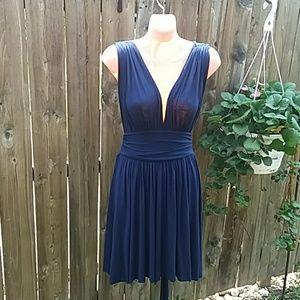 Rachel Pally blue backless halter dress